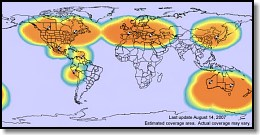 Globalstar Simplex Coverage map