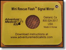 SOL Mini Rescue Flash Signal Mirror