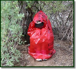 Garbage bag provides shelter