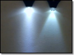 Wide angle LED (left) 20 degree angle LED (right)