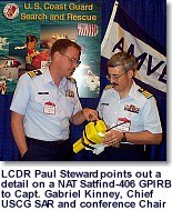 LCDR Paul Steward and Capt Gabriel Kinney