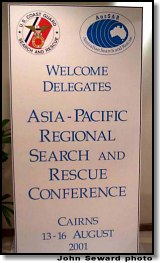 Asia-Pacific Regional SAR Conference welcome sign